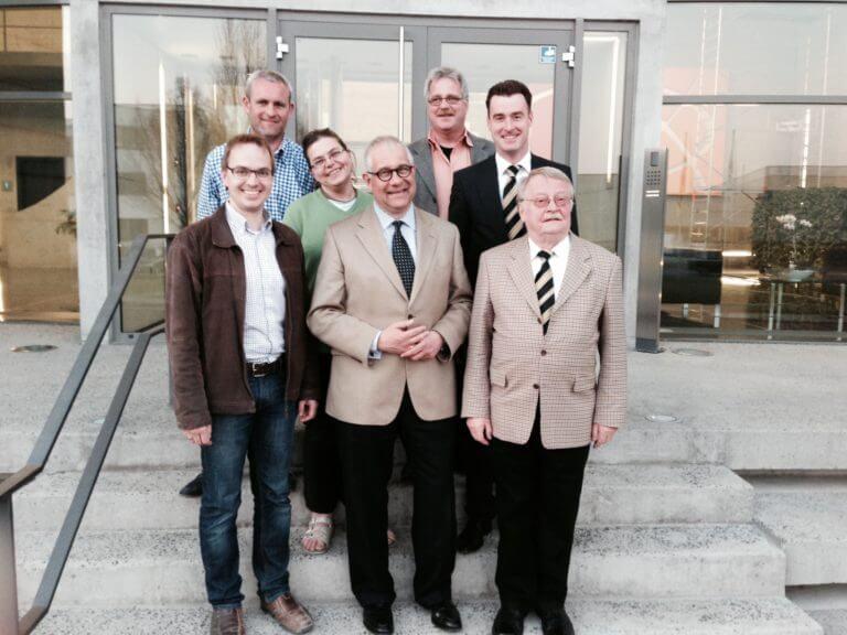Klaus D. Mapara und Kandidaten der CSU Eibelstadt