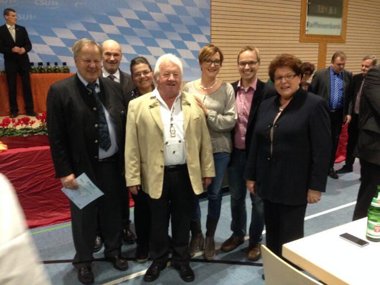 Barbara Stamm ehrt Mitglieder CSU Eibelstadt
