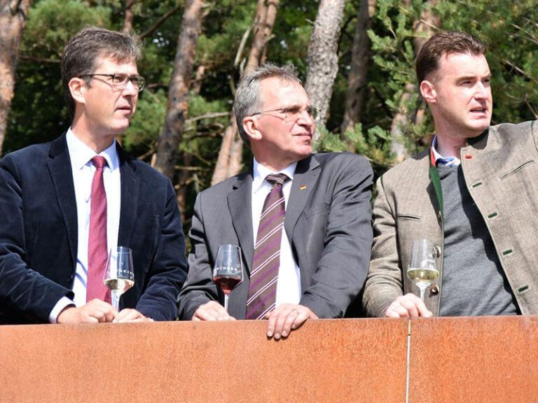 Christian Schuchardt, Paul Lehrieder und Markus Schenk am Terroir F Eibelstadt