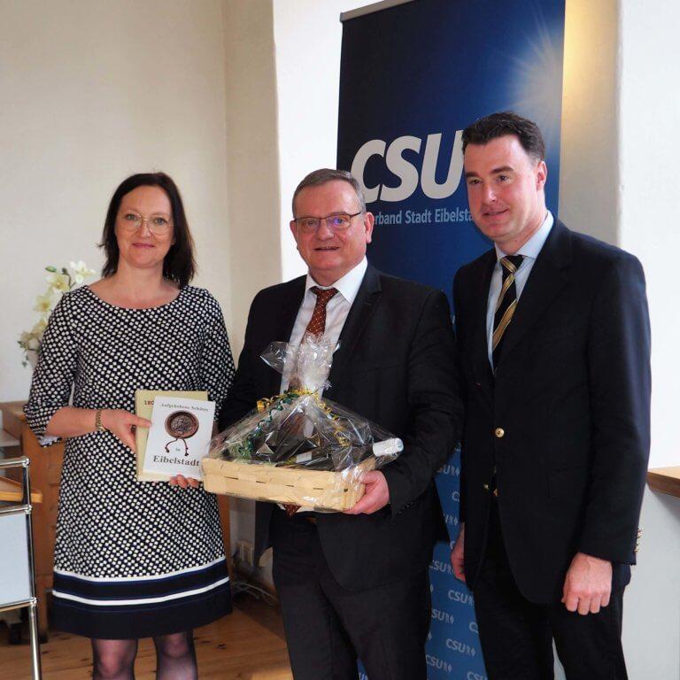 Anja Gansbühler, Manfred Ländner und Markus Schenk