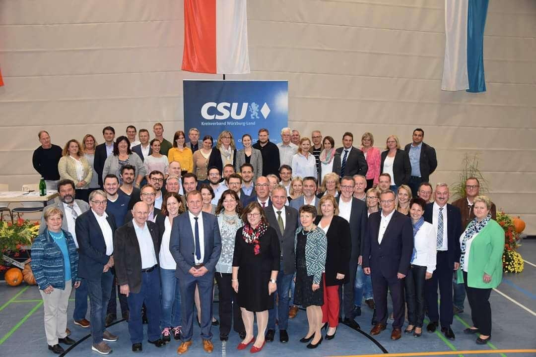 Kreistagsliste der CSU zur Kommunalwahl 2020