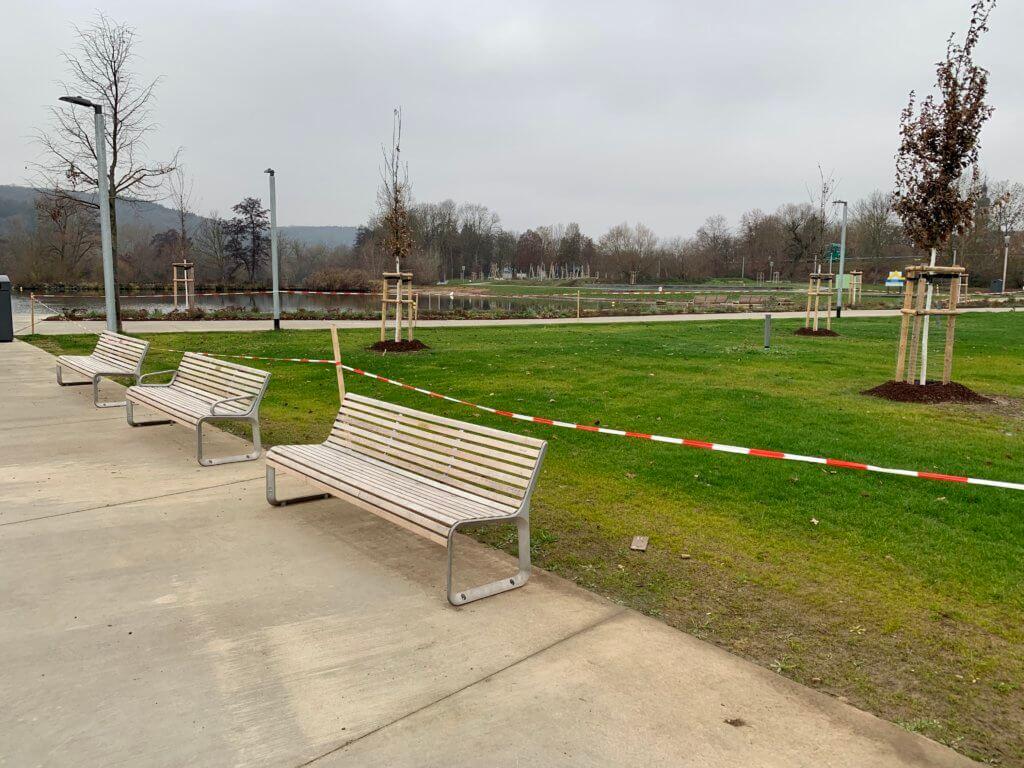CSU Sitzbank gestiftet Mainlände Eibelstadt